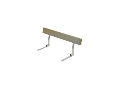 Plus Rückenlehne Kiefer-Fichte graubraun für Plankenbank mit Beschlag 118 cm