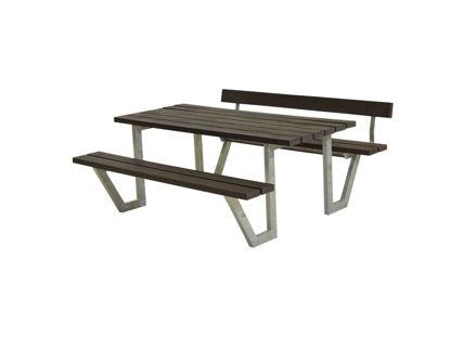 Plus Wega Kombimöbel mit 1 Rückenlehne Recycling Kunststoff schwarz 177 cm