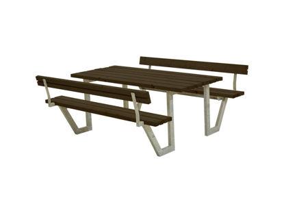 Plus Wega Kombimöbel mit 2 Rückenlehnen Kiefer-Fichte schwarz 177 cm
