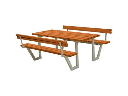 Plus Wega Kombimöbel mit 2 Rückenlehnen Kiefer-Fichte teakfarben 177 cm