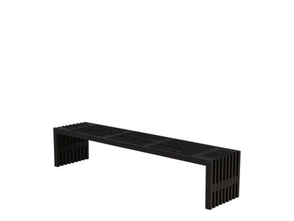 Plus Rustik Trallebank Kiefer-Fichte schwarz 218 cm