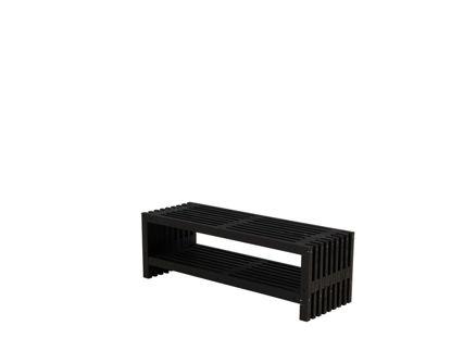 Plus Rustik Trallebank mit Schuhregal Kiefer-Fichte schwarz 138 cm