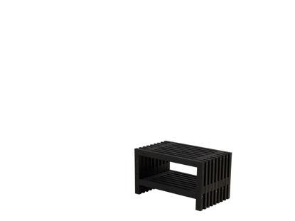 Plus Rustik Trallebank mit Schuhregal Kiefer-Fichte schwarz 80 cm