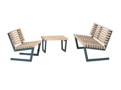 Plus Siesta Loungeset 2 Sessel - Bank - Tisch - Sofa 80 cm