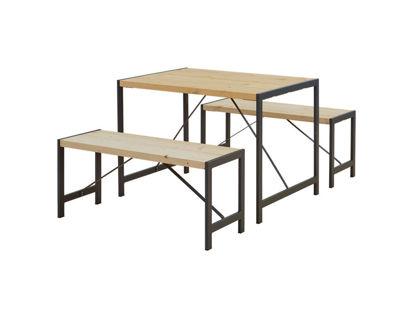 Plus Funkis Garnitur 1 Tisch und 2 Bänke 103 cm unbehandelt