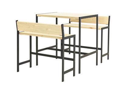 Plus Funkis Barset 1 Tisch und 2 Bänke 103 cm unbehandelt