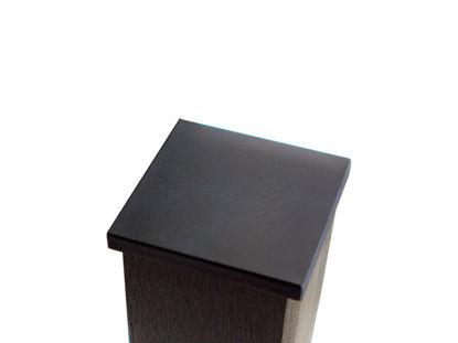 Plus Ekstra Pfostenabdeckung Kunststoff schwarz 9,5 x 9,5 cm
