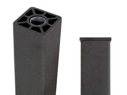 Plus WPC Pfosten mit Stahlkern 9 x 9 x 135 cm schiefergrau