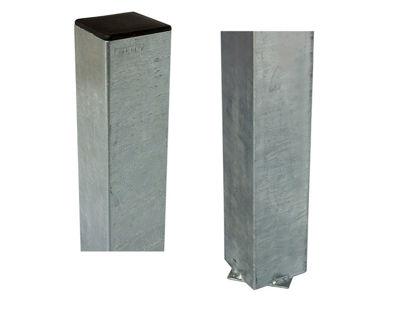 Plus Stahlpfosten verzinkt schwarz 8 x 8 x 268 cm