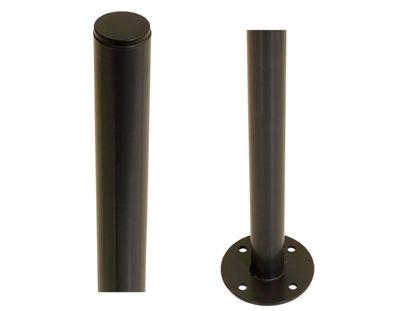Plus Stahlpfosten rund mit Fuss schwarz 4,2 x 4,2 x 98 cm