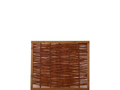 Plus Weidenzaun mit Rahmen 120 x 100 cm