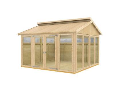 Plus Pavillon Modell 8 mit Riemen und Diele - 350 x 350 x 283 cm