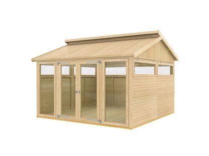 Plus Pavillon Modell 9 mit Riemen und Diele - 350 x 350 x 283 cm