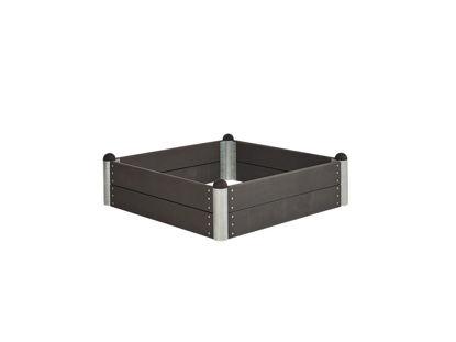 Plus Pipe Sandkasten 138 x 138 cm WPC schiefergrau