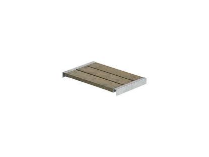 Plus Bank für Cubic - Pipe Kiefer-Fichte graubraun mit Beschlägen 60 x 36 cm