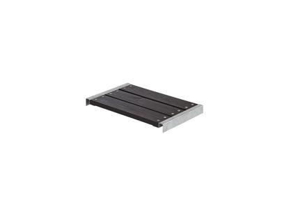 Plus Bank für Cubic - Pipe Kiefer-Fichte schwarz mit Beschlägen 60 x 36 cm