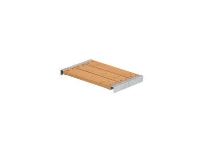 Plus Bank für Cubic - Pipe Lärche unbehandelt mit Beschlägen 60 x 36 cm