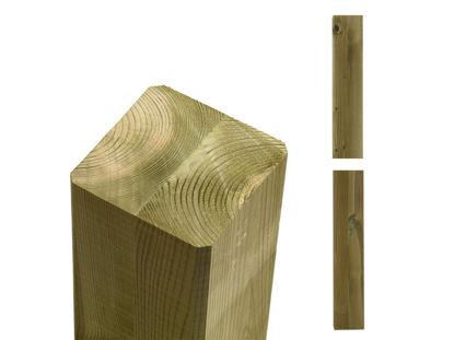 Plus Cubic Premium-Pfosten ohne Nuten druckimprägniert 9 x 9 x 369 cm